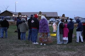 Saints at Rock Creek Bible Church gather for an Easter Sunrise service.
